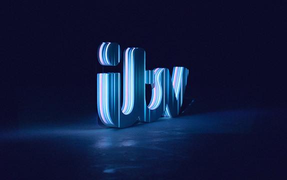 اجرای تری دی مپینگ بر روی لوگو تجهیزات نمایشگاهی برندینگ معرفی آرم تجاری