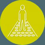 فرش هوشمند interactive floor تجهیزات نمایشگاهی