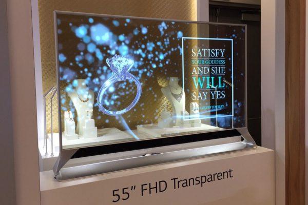 فناوری تلویزیون های شیشه ای نمایشگر شیشه ای
