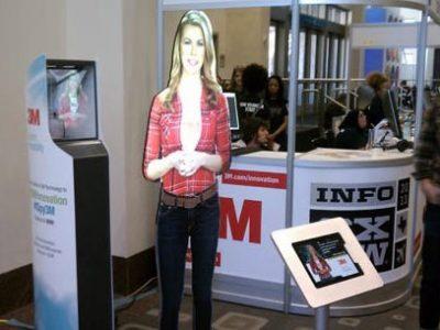 مجری مجازی آدمک هوشمند تجهیزات نمایشگاهی پیشرفته
