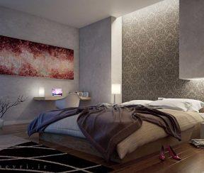 انیمیشن معماری داخلی اتاق خواب