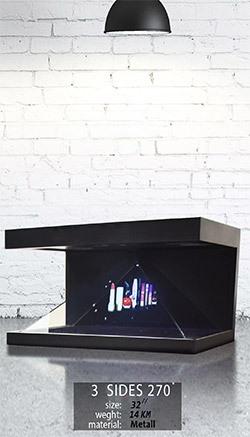 نمایشگر سه بعدی سه وجهی 32 اینچ