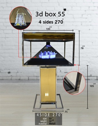نمایشگر سه بعدی چهار وجهی 55 اینچ