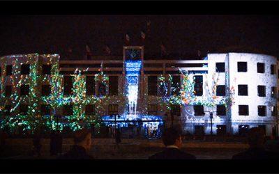اجرای ویدئو پروجکشن میدان شهدا مشهد